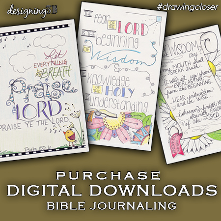 purchase digital copies of my Bible Journaling drawings
