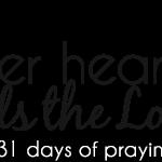 [day 1] PFYH: tender heart