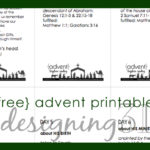 ADVENT Scripture Reading {free printable}