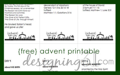 ADVENT Scripture Reading {free printable}